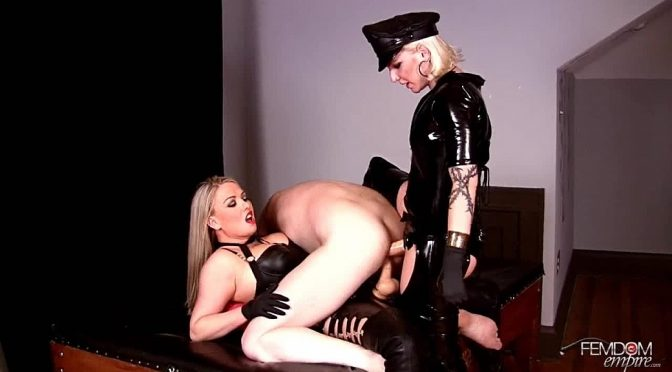 Coral Korrupt in  Femdomempire Double Anal DOMINATION August 02, 2012  Blonde