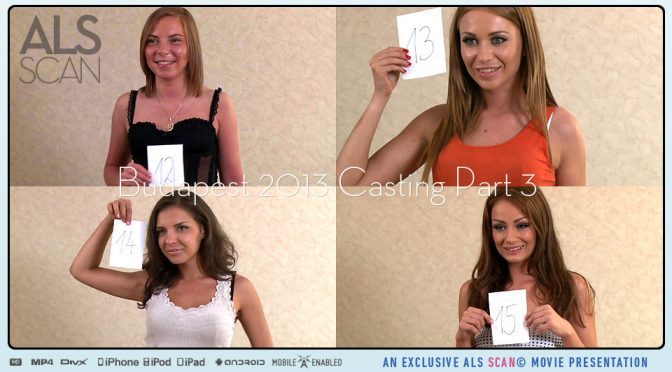 Angie Koks in  Alsscan Budapest 2013 Casting Part 3 December 12, 2013  Bts