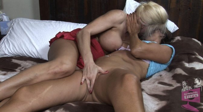 Cindy Craves in  Girlfriendsfilms Lesbian Triangles #13, Scene #02 May 18, 2014  Kissing, Blonde