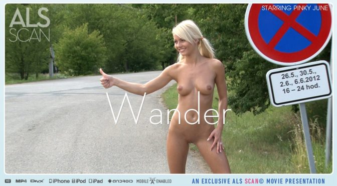 Pinky June in  Alsscan Wander August 05, 2012  Blonde, Nude