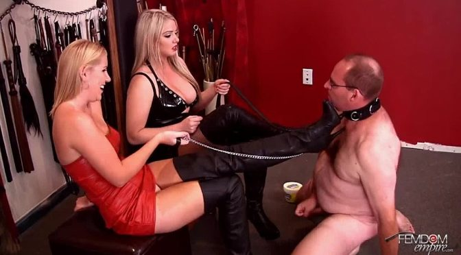 Ashley Edmonds in  Femdomempire Jerk on my boots August 04, 2012  Boot Worship