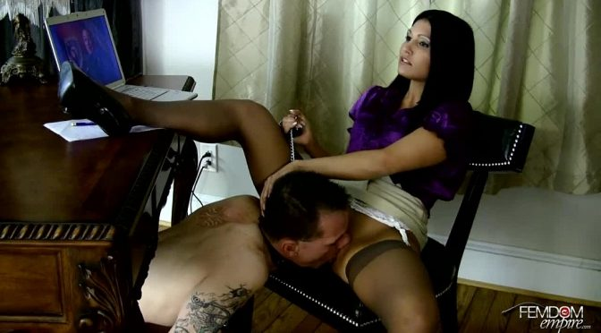 Jade Indica in  Femdomempire Personal pussy licking assistant March 21, 2012  Chastity