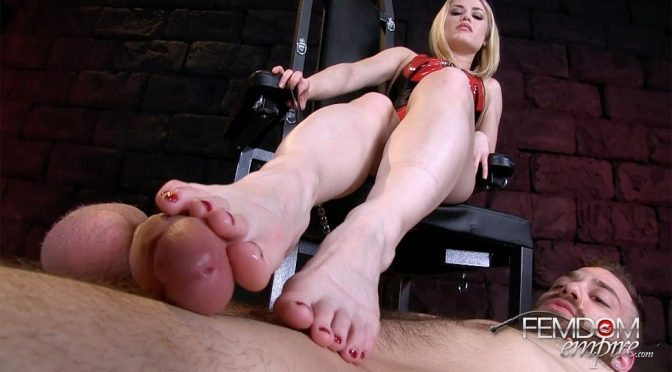 Ash Hollywood in  Femdomempire Size 5 Cock Tease August 09, 2017  Foot Worship, Orgasm Denial