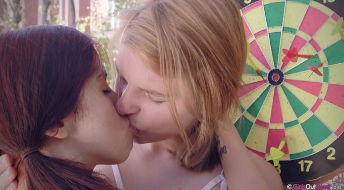 Sonia in  Girlsoutwest Sonia & Zelder – Darts Rule May 31, 2016  Blonde, Anal Fingering/Sex/Stim