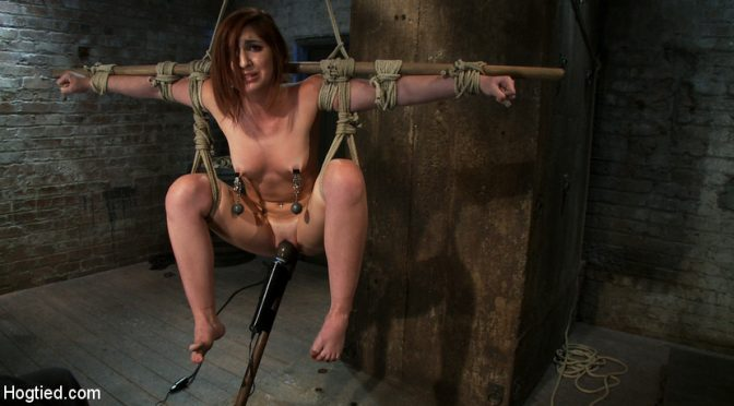 Lexi Brooks in  Hogtied 18 Years Old, And InWay Over Her Head July 22, 2010  Handler, Straight