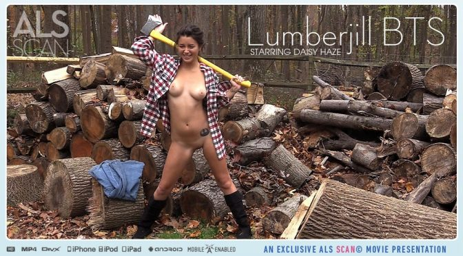 Daisy Haze in  Alsscan Lumberjill BTS July 27, 2015  Bts, Dreadlocks