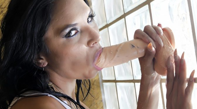 Missy Martinez in  Cherrypimps Shower Play February 17, 2015  Big Tits, Black Hair