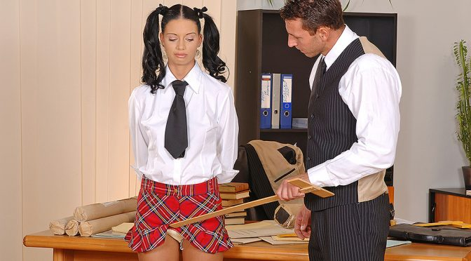 Viva Small in  Houseoftaboo Spanked Schoolgirl [Part 1] October 08, 2008  School, Costume