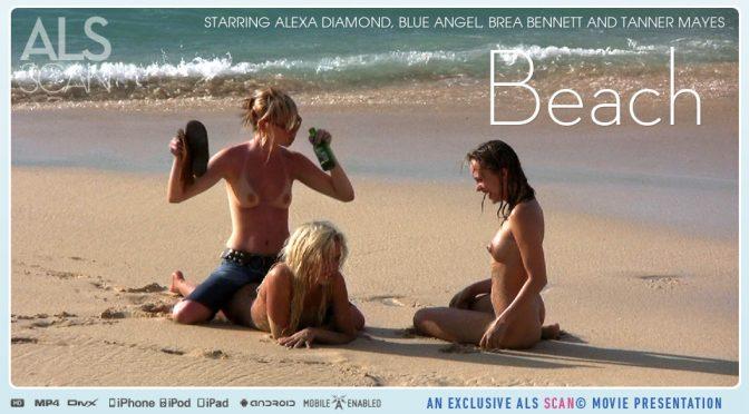 Alexa Diamond in  Alsscan Beach July 07, 2010  Spread, Big Lips