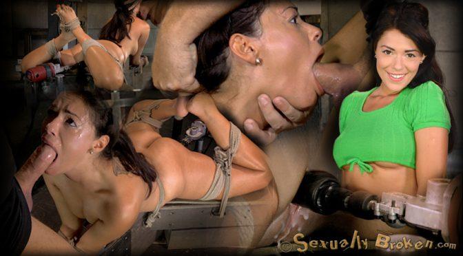 Ava Dalush in  Sexuallybroken English rose Ava Dalush bound down on fucking machine, brutal drooling deepthroat multiple orgasms! August 08, 2014  Bondage, BDSM