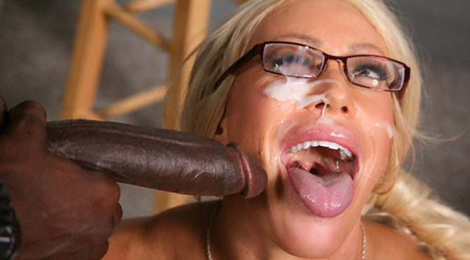 Alexis Diamonds in  BlacksOnCougars.com Alexis Diamonds September 25, 2012  Big Tits, Facial