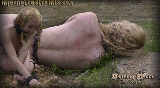 Nicki Blue in  Infernalrestraints Morning Wood Part Two July 01, 2011  Metal Gag, Orgasm