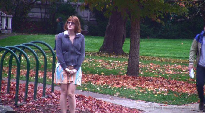 Hdwetting Campus Skirt Pee November 05, 2013  Outdoors