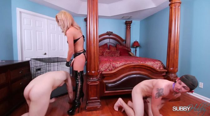Inga Victoria in  Subbyhubby Parker: Don't Make Your Stepmom Wait Part 6 April 11, 2016  Strapon