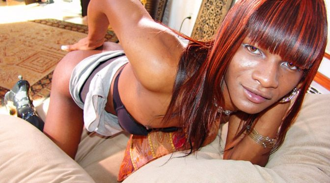 Demeria in  Blacktgirls Demeria Strokes & Cums November 14, 2006  Transsexual