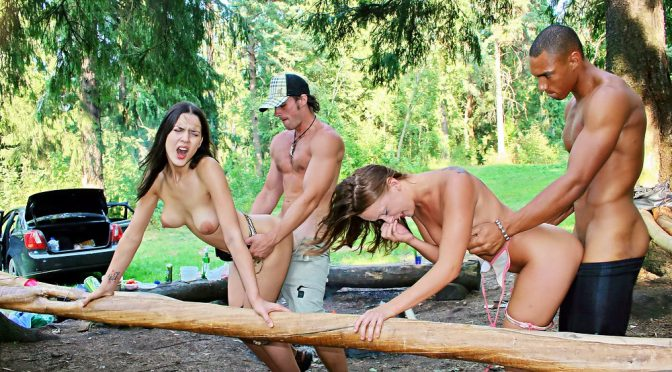 Amber Hardin in  Collegefuckparties Hot college fucking in the woods, part 3 February 27, 2012  Tattoo, Group