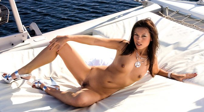 Vanessa May in  Private Vanessa May Gets to Ride a Hard Rod While on a Yacht in a MMF Threeway February 15, 2011  Blowjob, Anal Sex