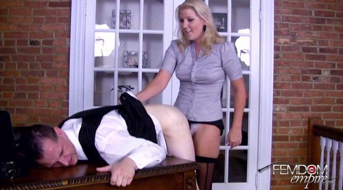 Ashley Edmonds in  Femdomempire Secretary's REVENGE December 25, 2011  Blonde, Office Setting