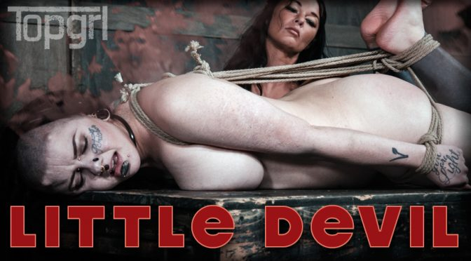 Luna LaVey in  Topgrl [Archive] Little Devil February 21, 2017  Pussy Flogging, Hard Caning